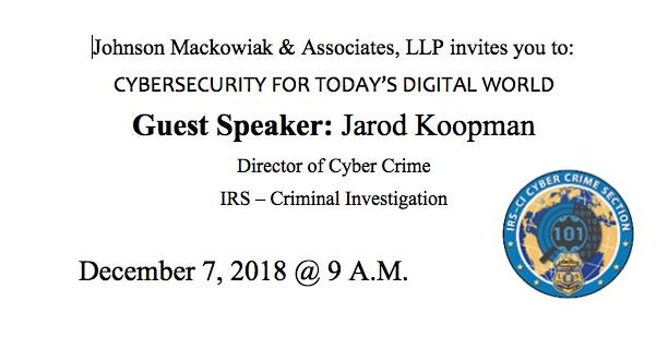 Johnson, Mackowiak & Associates hosts Cybersecurity Event