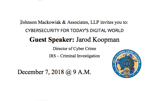 Johnson, Mackowiak & Associates hosts Cybersecurity Event