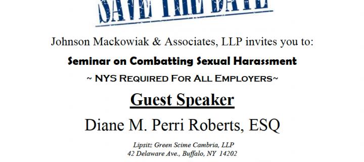 JMA Sexual Harassment Seminar Canceled